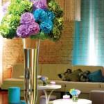 decoração com flores 9 150x150 Decoração Com Flores Para Festas, Fotos