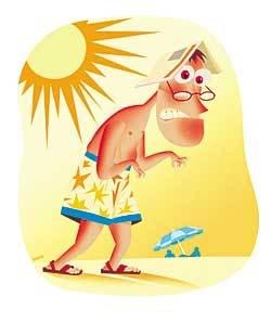 cuidado com o sol