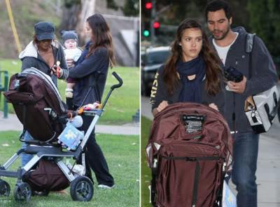 Fotos de Jéssica Alba com sua filha em parque