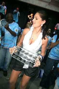 Miss Brasil Natália Guimarães no Carnaval 2009