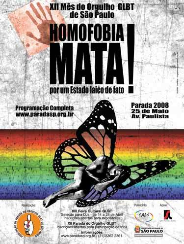 Cartaz Parada Gay 2008