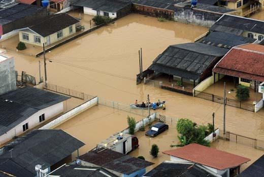 Chuvas em Santa Catarina