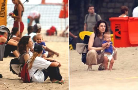 Fotos Fernanda Torres com os filhos
