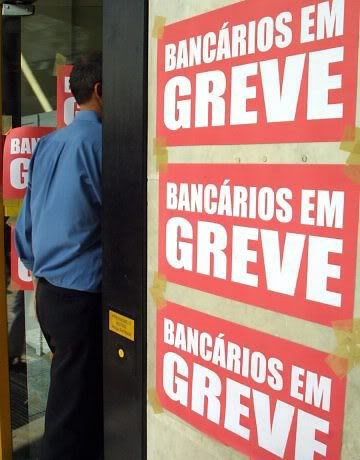 Bancos em greve