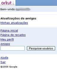 Orkut pelo Celular