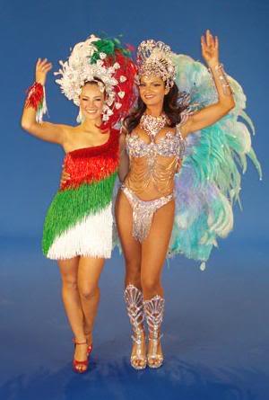 Vinhetas de Carnaval: Luiza Brunet e Paola Oliveira