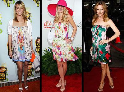 vestido floral Moda Primavera Verão 2010