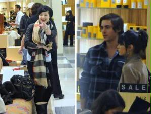 Fotos Zac Efron e Vanessa Hudgens em loja