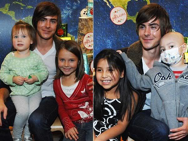 Zac Efron visita hospital infantil em Los Angeles