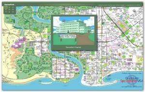 Mapa interativo de Springfield