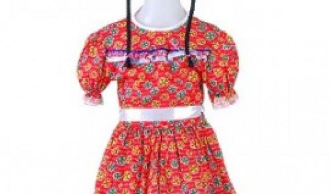 vestido caipira festa junina 2011