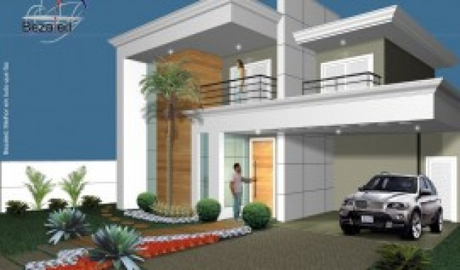 Fachadas residenciais modernas for Casas moderna