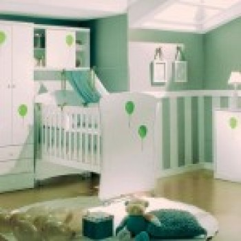 quarto de bebe decorado verde 1