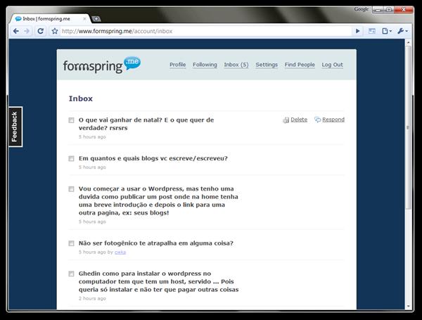 Como Fazer Formspring.me Aprenda a Criar