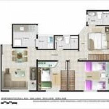 planta de apartamentos grátis, pequenos, com medidas 2