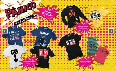 Camisetas do Pânico Riachuelo 21cfeb59f3ee3