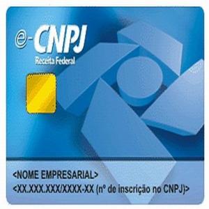 Cartão de CNPJ Da Receita Federal