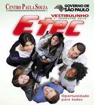 ETEC Vestibulinho 2º semestre 2010  Inscrição