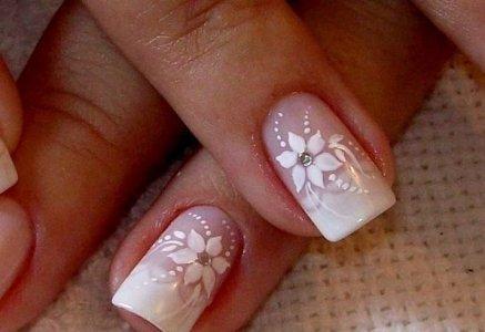 fotos de unhas para noivas decoradas
