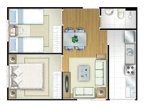 planta de apartamento pequeno 3