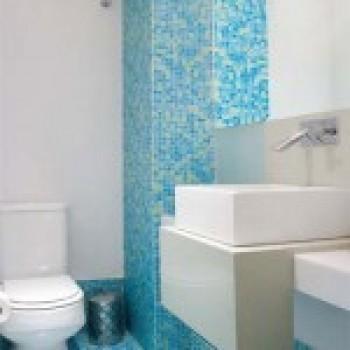 Banheiros com Pastilhas de Vidro Fotos  MundodasTribos – Todas as tribos em -> Banheiro Com Pastilhas De Vidro Laranja
