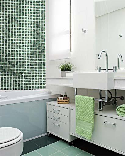 Decoração de Banheiro Pequenos Com Banheiras  MundodasTribos – Todas as tr -> Decoracao Banheiro Salmao