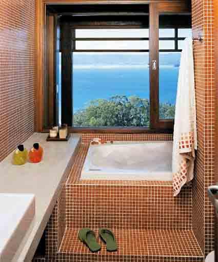 Banheiras para Banheiros Pequenos -> Decoração Banheiro Pequeno Com Banheira