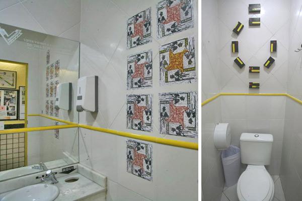Azulejos decorados para banheiros dicas mundodastribos for Azulejos decorados