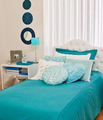 quartos com decoracao azul : Quarto azul turquesa