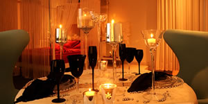 Como organizar um jantar romântico