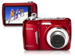 câmera-digital-vermelha-kodak