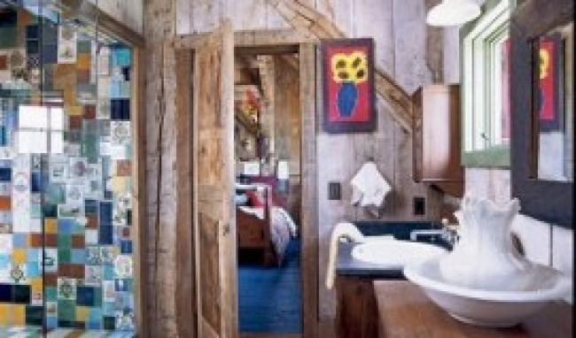 banheiro 3 Banheiro Decorado em Estilo Rústico