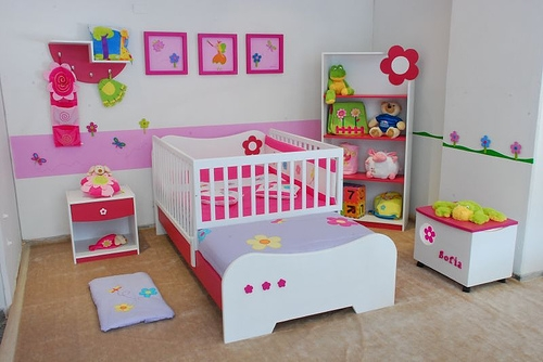 Decoração de quarto infantil feminino Passo a passo  ~ Quarto Planejado Infantil Com Duas Camas