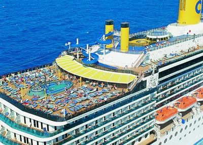 Viagem para portugal de navio - Costa luminosa piscine ...