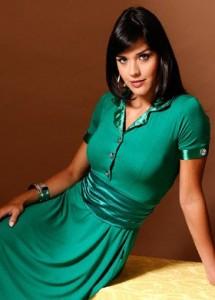 vestidoverde 215x300 Moda Evangélica Vestidos Longos
